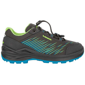 Lowa Zirrox GTX Low Shoes Kids anthracite/turquoise